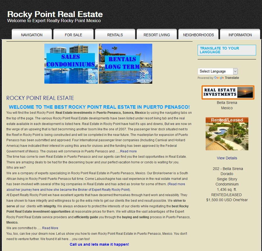 Expert Realty in Rocky Point (Puerto Penasco). Click here to visit Expert Realty's website