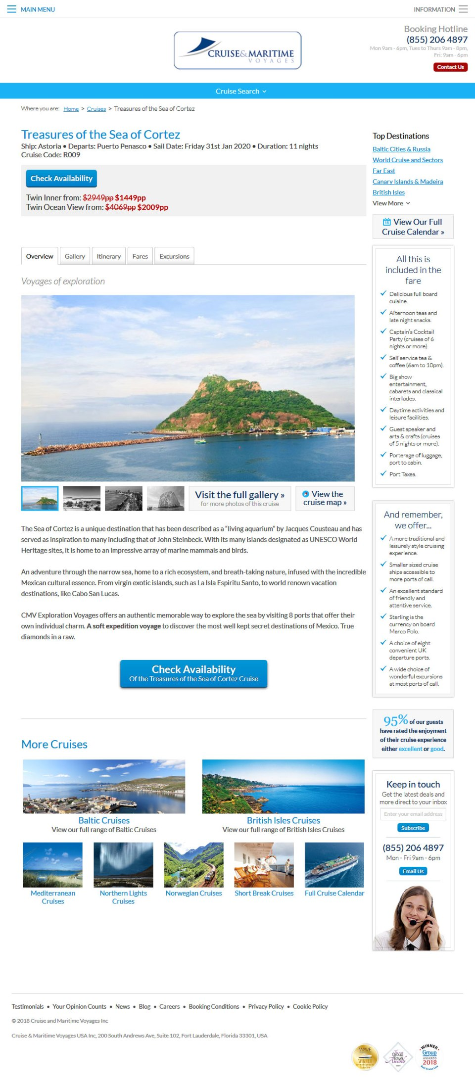 Cruise & Maritime Voyages in Rocky Point Mexico (Puerto Penasco) January 31, 2020. Click the Picture to visit Cruise & Maritime Voyages Site.