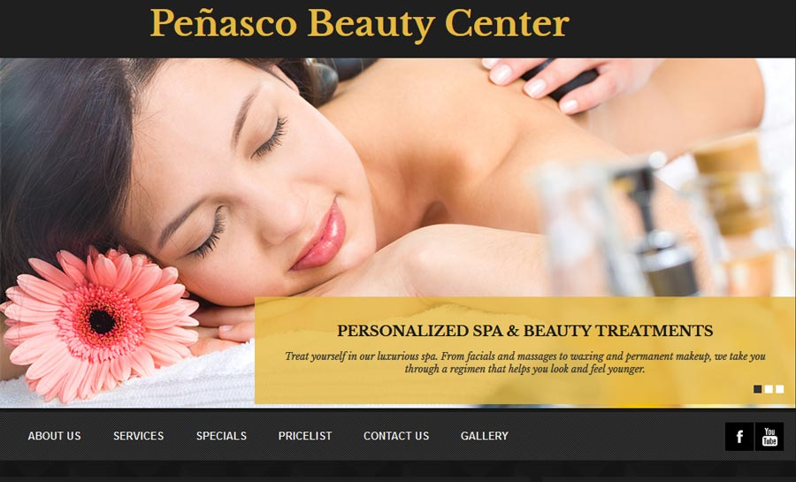 Penasco Beauty Center.  A Beauty Salon and Spa for Rocky Point Mexico (Puerto Penasco). Click the Picture to go to Penasco Beauty Center's website.