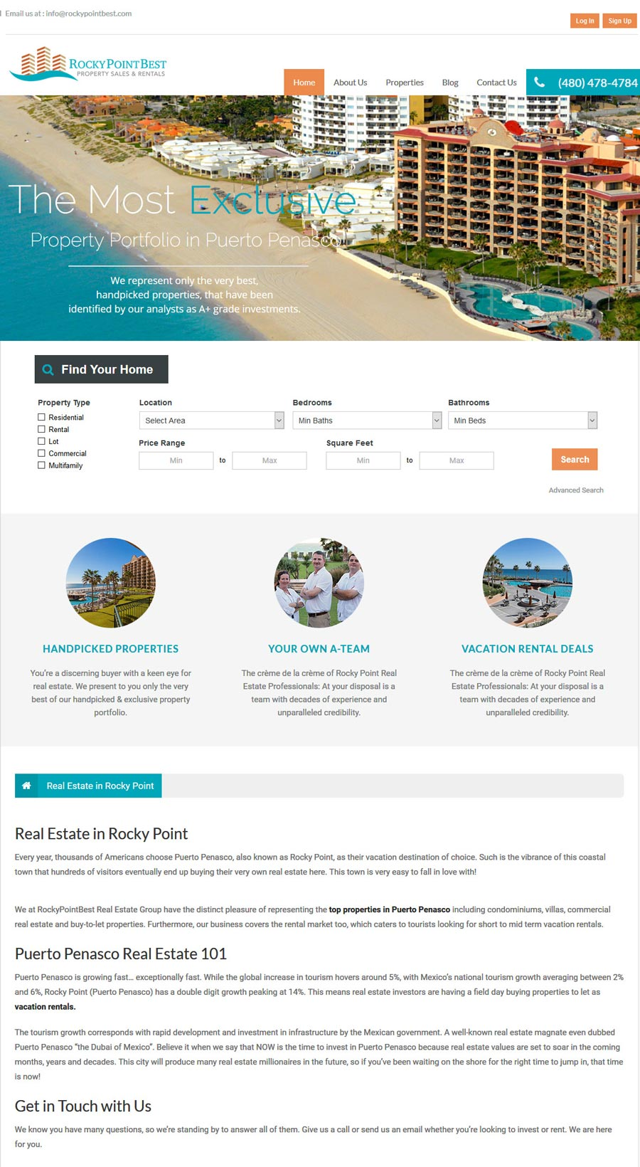 Rocky Point Best Real Estate in Rocky Point (Puerto Penasco). Click here to visit Rocky Point Best's website