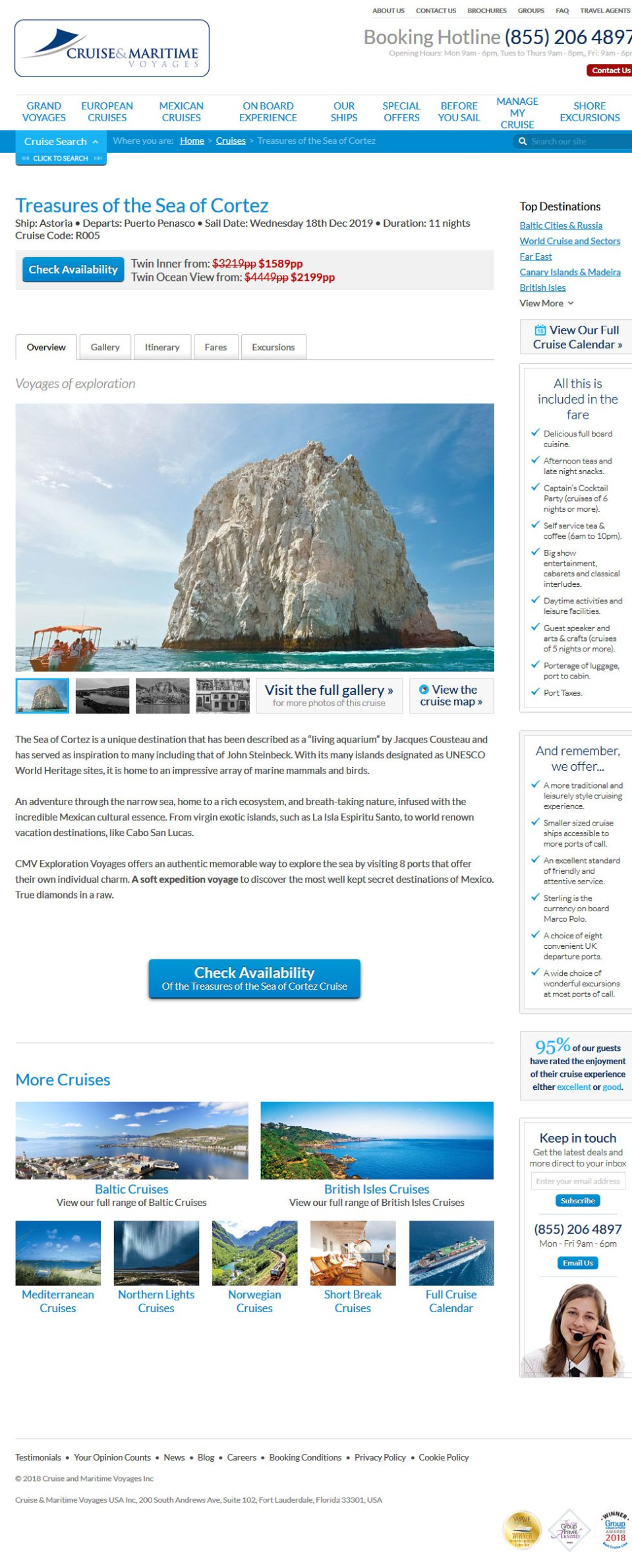 Cruise & Maritime Voyages in Rocky Point Mexico (Puerto Penasco) December 18, 2019. Click the Picture to visit Cruise & Maritime Voyages Site.