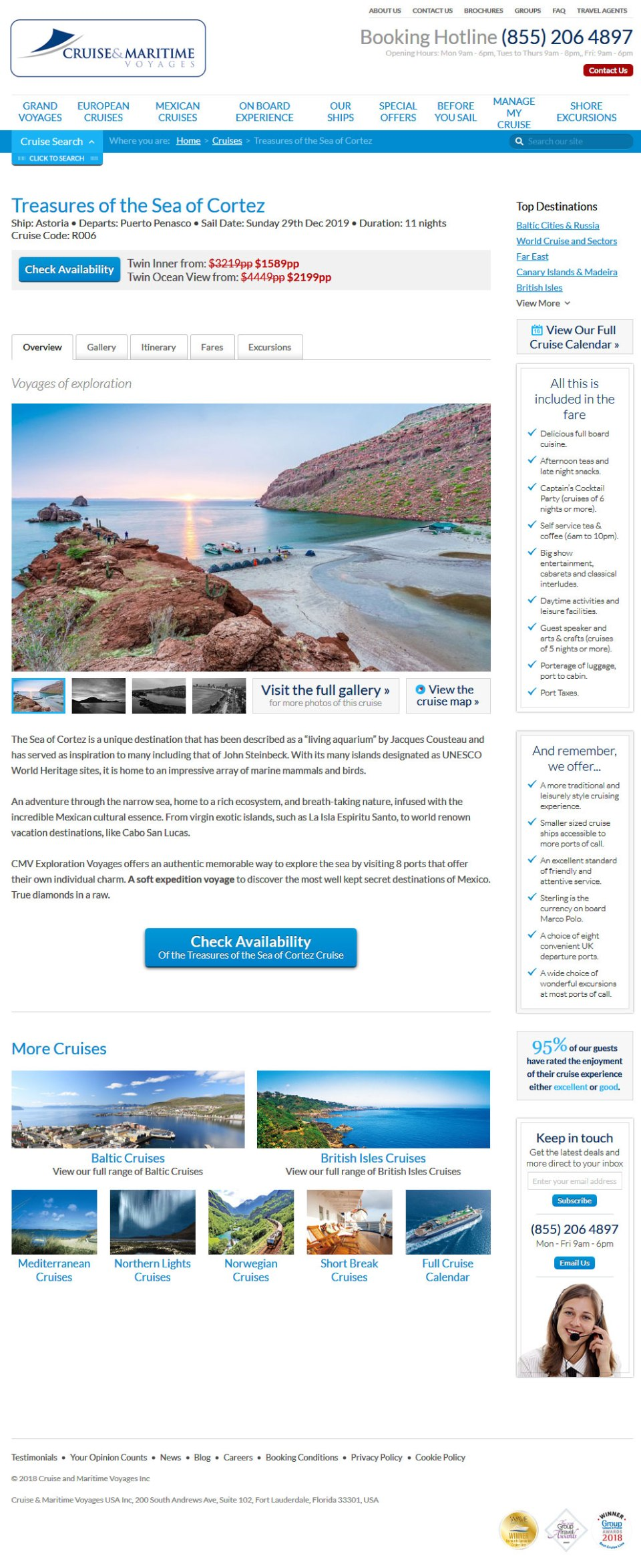 Cruise & Maritime Voyages in Rocky Point Mexico (Puerto Penasco) December 29, 2019. Click the Picture to visit Cruise & Maritime Voyages Site.