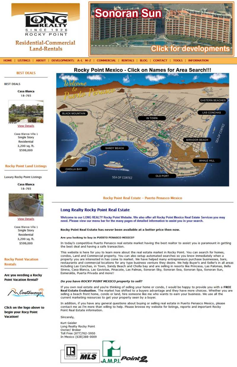 Long Realty Real Estate in Puerto Penasco (Rocky Point Mexico). Click here to visit Long Realty's website.