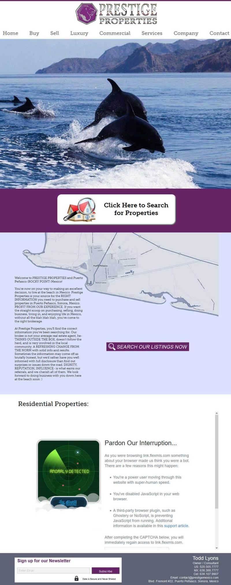 Prestige Properties Real Estate in Puerto Penasco (Rocky Point Mexico). Click here to visit Prestige Properties' website.