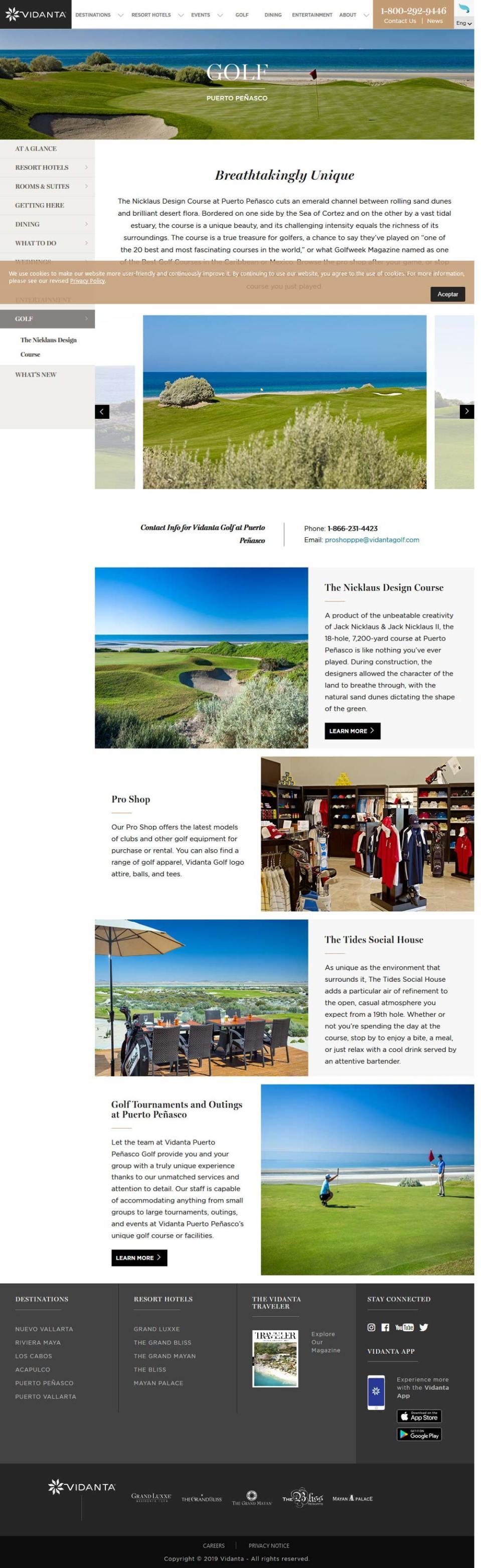 Vidanta Golf in Puerto Penasco (Rocky Point Mexico). Click here to visit Vidanta's Golf website.