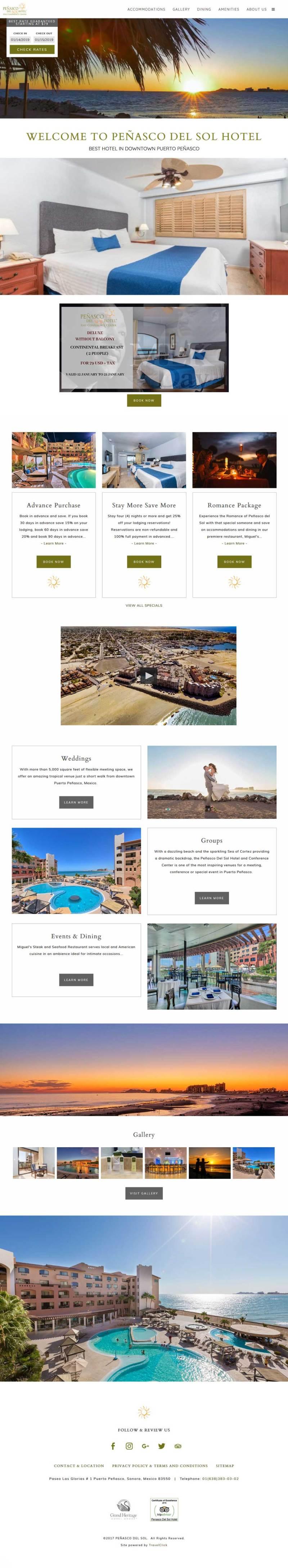 Hotel Penasco Del Sol in Puerto Penasco (Rocky Point Mexico). Click here to visit the Penasco Del Sol website.