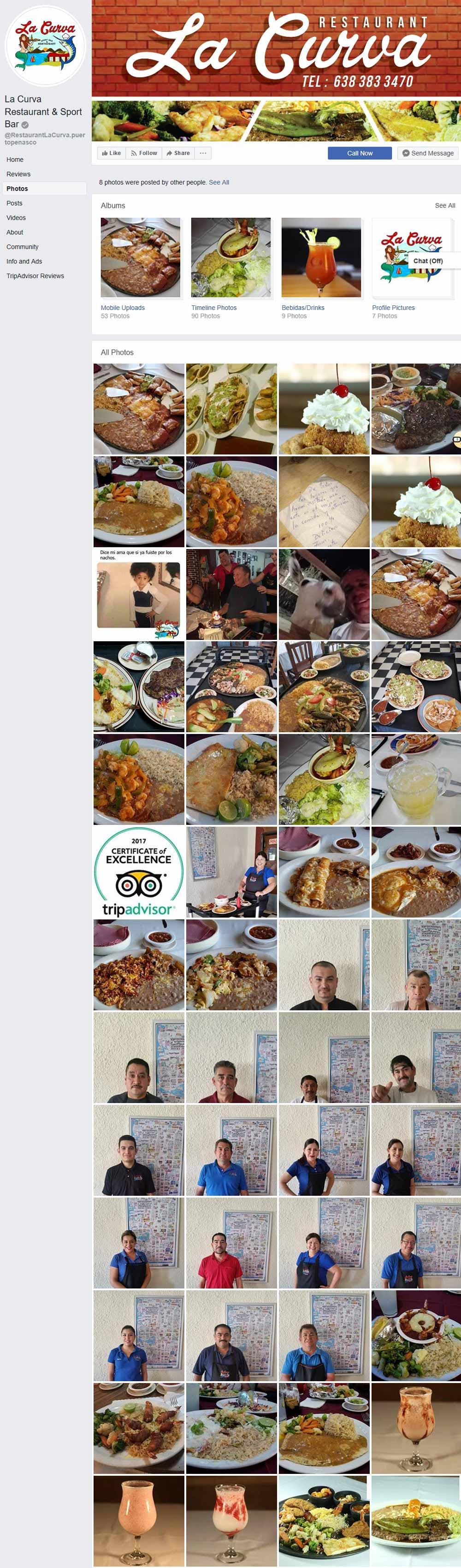 La Curva Restaurant in Puerto Penasco (Rocky Point Mexico). Click here to visit La Curva's website.