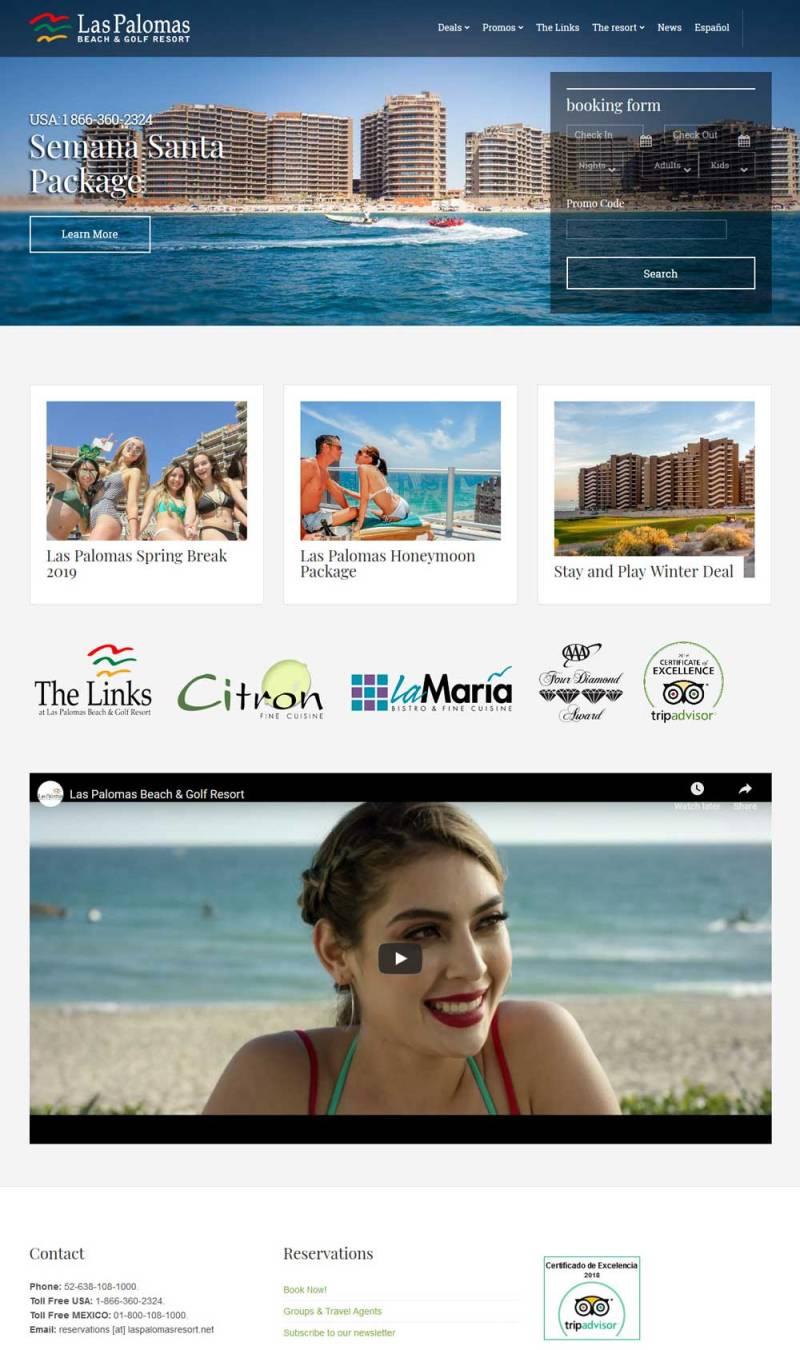Las Palomas Resort and Condos in Puerto Penasco (Rocky Point Mexico). Click here to visit The Las Palomas website.