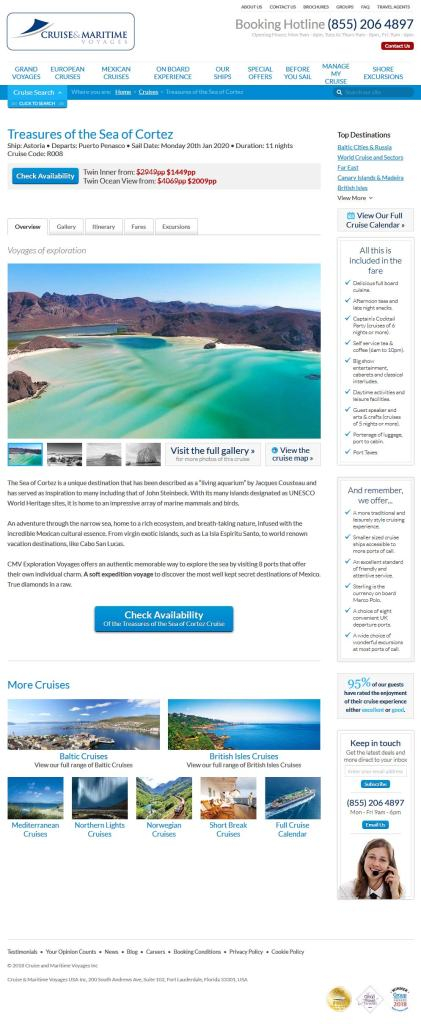 Cruise and Maritime Voyages, January 20, 2020. Now Booking for Puerto Penasco (Rocky Point Mexico). Click here to visit their website.