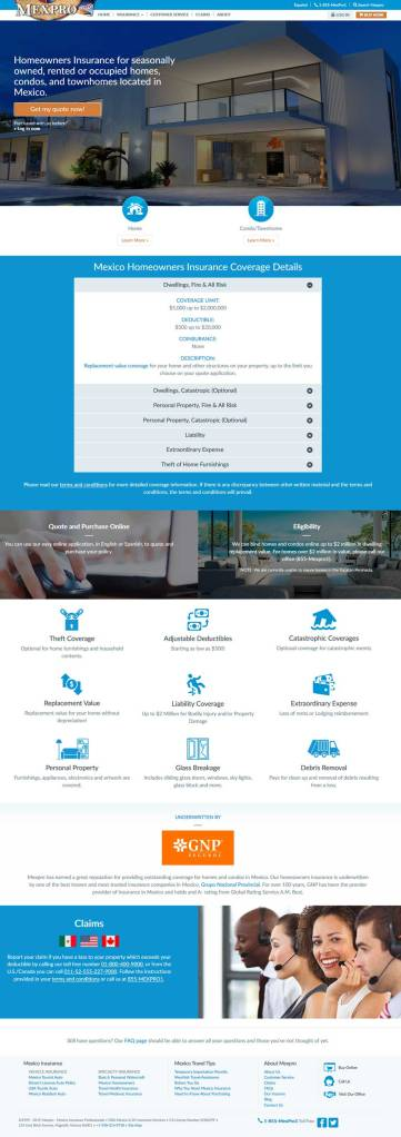 Mexican home Insurance for in Puerto Penasco (Rocky Point Mexico). Click here to visit MexPro's home insurance web page.