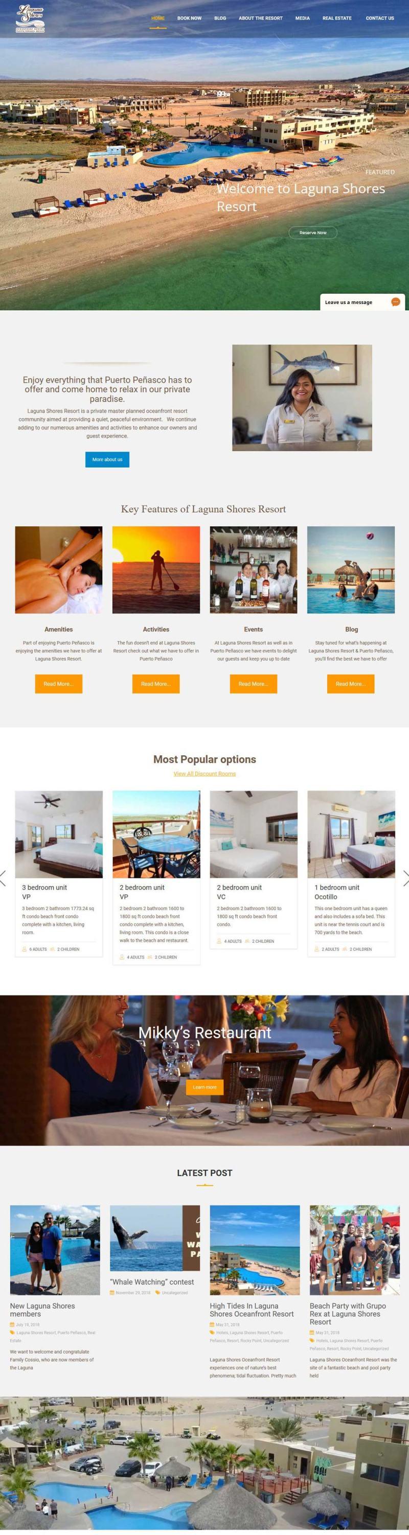 Laguna Shores Resort in Puerto Penasco (Rocky Point Mexico). Click here to visit the Laguna Shores website.