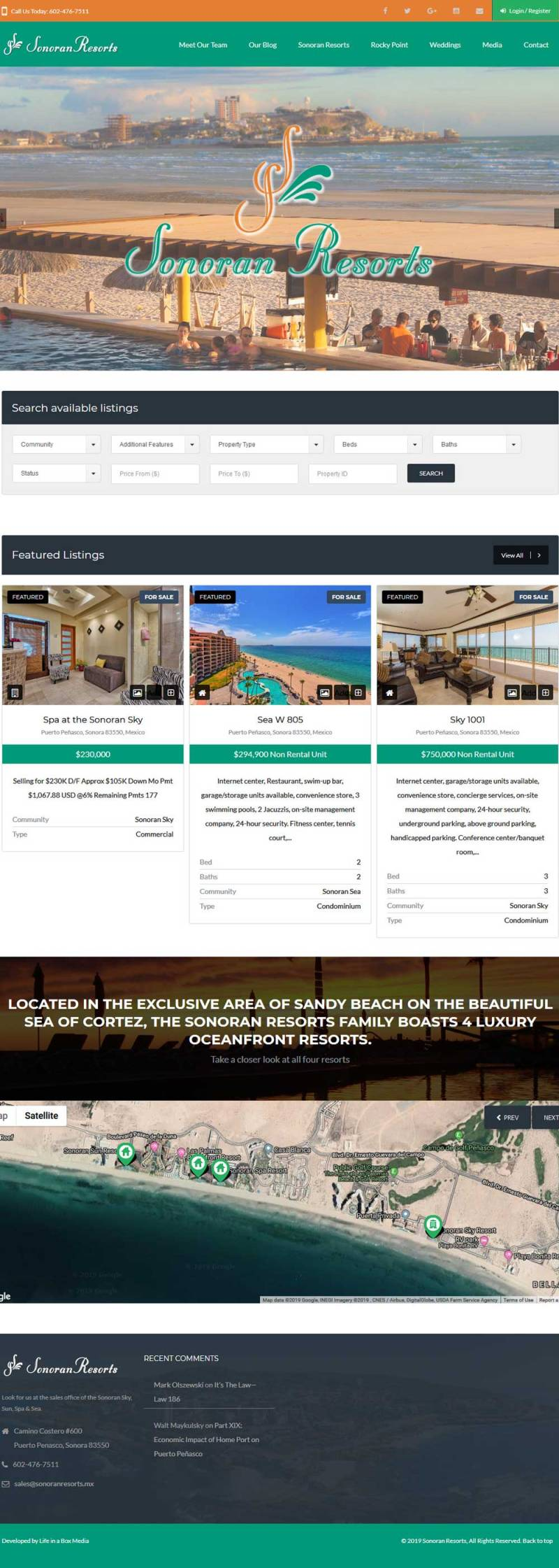 Sonoran Resorts and Condos Real Estate in Puerto Penasco (Rocky Point Mexico). Click here to visit the Sonoran Resorts website.